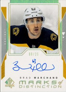 Marks of Distinction Brad Marchand