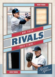 Rivals Material Dual Relics Mike Piazza, Roger Clemens