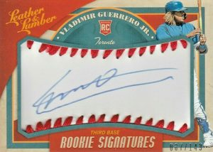 Rookie Baseball Signatures Vladimir Guerrero Jr.
