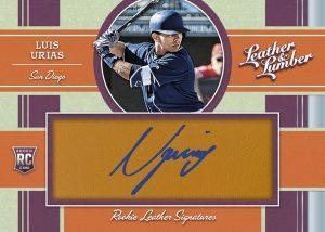 Rookie Leather Signatures Luis Urias