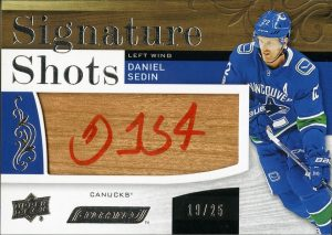Signature Shots Red Ink Daniel Sedin