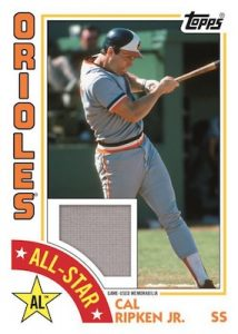 1984 Topps Baseball All Star Relics Cal Ripken Jr