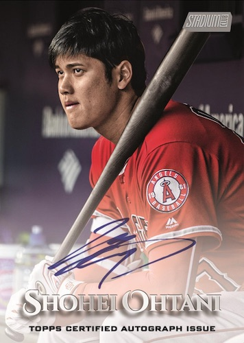 Auto Oversized Base Topper Shohei Ohtani