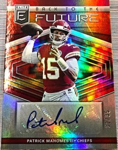 Back to the Future Signatures Patrick Mahomes II