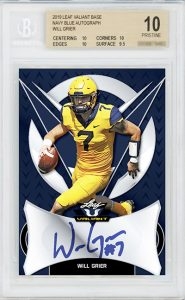 Base Auto Navy Blue Will Grier