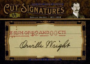 Cut Signatures Orville Wright