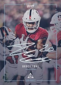 Draft Day Signatures Bryce Love