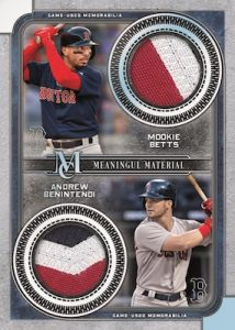 Dual Meaningful Materials Relics Mookie Betts, Andrew Benintendi