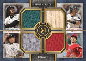 Four-Player Primary Pieces Quad Relics ichiro, Hideki Matsui. Masahiro Tanaka, Shohei Ohtani