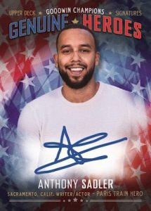 Genuine Heroes Auto Anthony Sadler