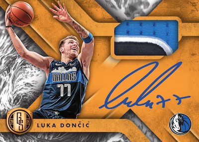 Gold Standard Rookie Jersey Auto Luka Doncic