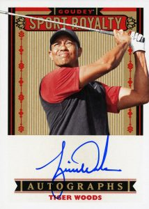 Goudey Sport Royalty Auto Tiger Woods