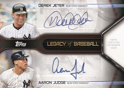Legacy of Baseball Dual Auto Derek Jeter, Aaron Judge
