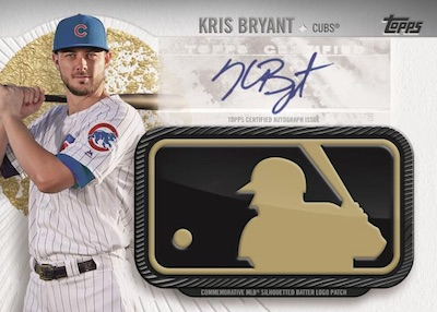 MLB Logo Golden Anniversary Manufactured Patch Auto Kris Bryant