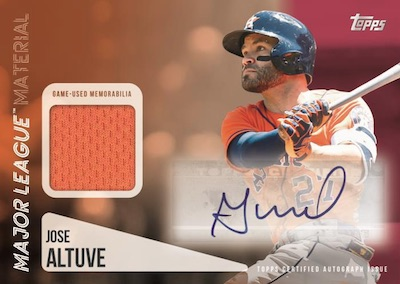 Major League Materials Auto Jose Altuve