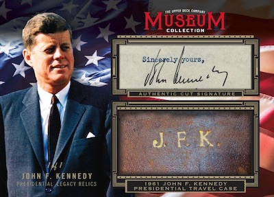 Museum Collection JFK Presidential Legacy Relics Cut Sig