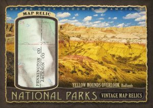 National Parks Vintage Map Relics Yellow Mounds Overlook