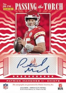 Passing the Torch Auto Doubles Back Patrick Mahomes II