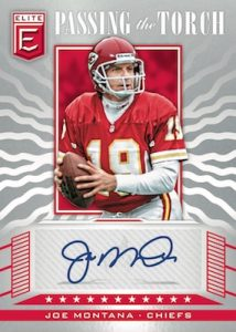 Passing the Torch Auto Doubles Front Joe Montana