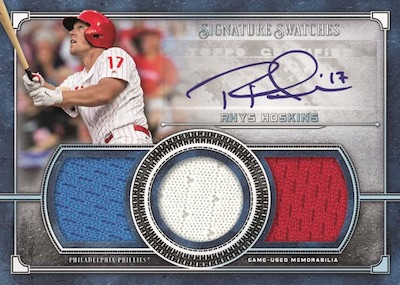 Single-Player Signature Swatches Triple Relic Auto Rhys Hoskins