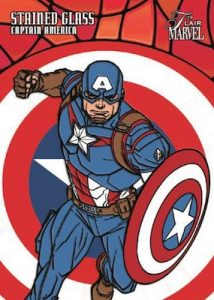 Stained Glass Captain America
