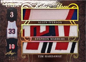 The Ultimate Relics 3 Allen Iverson, Stephon Marbury, Tim Hardaway