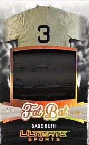 Ultimate Fat Bats Jumbo Relics Babe Ruth