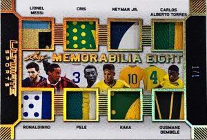 Ultimate Memorabilia 8 Lionel Messi, Cris, Neymar Jr, Carlos Alberto Torres, Ronaldinho, Pele, Kaka, Ousmane Dembele