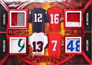 Ultimate Patch 4 Tom Brady, Dan Marino, Joe Montana. John Elway