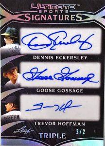 Ultimate Signatures 3 Dennis Eckersley, Goose Gossage, Trevor Hoffman