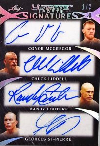 Ultimate Signatures 4 Conor McGreggor, Chuck Liddell, Randy Couture, Georges St-Pierre