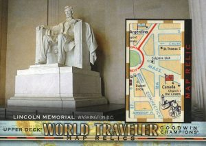 World Travler Map Relics Lincoln Memorial