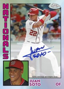 1984 Topps Baseball Auto Juan Soto MOCK UP