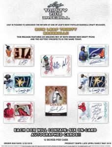 2018 Leaf Trinity Baseball