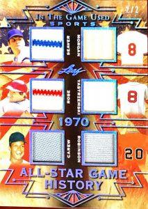 All-Star Game History 6 Relics Tom Seaver, Joe Morgan, Pete Rose, Carl Yastrzemski, Rod Carew, Frank Robinson