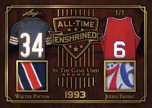 All-Time Enshrined Dual Relics Walter Payton, Julius Erving MOCK UP