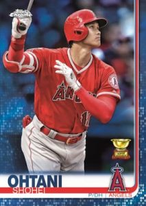 Base Blue Refractor Shohei Ohtani MOCK UP