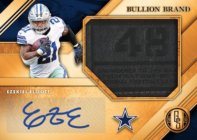 Bullion Brand Tag Signatures Ezekiel Elliott MOCK UP