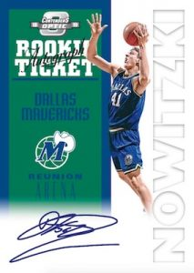 Contenders Tribute Auto Dirk Nowitzki MOCK UP