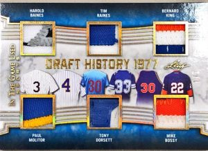 Draft History 6 Relics Harold Baines, Paul Molitor, Tim Raines, Tony Dorsett, Bernard King, Mike Bossy
