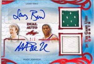 Dual Auto Larry Bird, Magic Johnson
