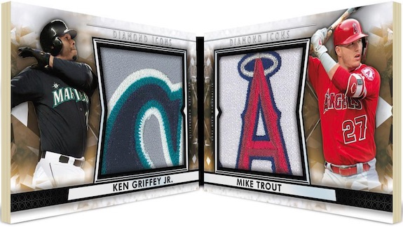 Dual Player Relic Book Ken Griffey Jr, Mike Trout