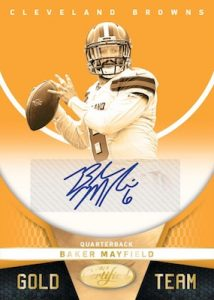 Gold Team Mirror Signature Gold Etch Baker Mayfield MOCK UP