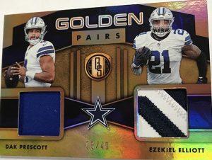 Golden Pairs Relics Prime Dak Prescott, Ezekiel Elliott