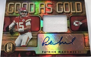 Good as Gold Auto Relic Patrick Mahomes II