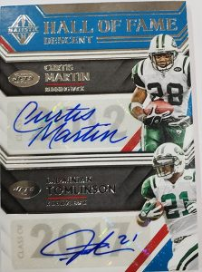 Hall of Descent Dual Signatures Curtis Martin, LaDainian Tomlinson