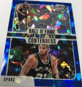 Hall of Fame Contenders Cracked Ice Blue Tim Duncan