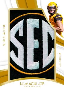 Immaculate Jumbo Patches Drew Lock MOCK UP