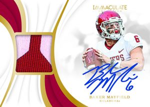 Immaculate Signature Patches Baker Mayfield MOCK UP