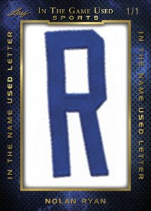 In the Name Used Letter Relics Nolan Ryan MOCK UP